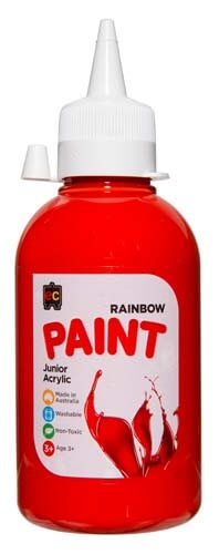 Brilliant Red Jnr Acrylic Paint 250mL