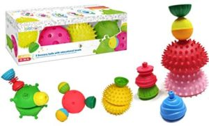 2 Sensory Balls & 4 Educational Beads 12pcs Lalaboom