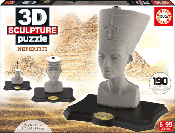 Educa Nefertiti 3D Sculpture Puzzle 190pcs