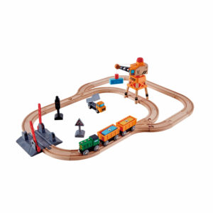 Hape Crossing & Crane Set