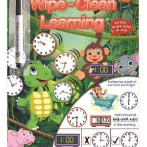 Wipe Clean Learning Telling The Time Book