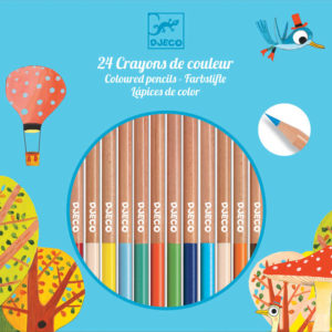 Djeco DJ9752 Arts up 24 Coloured Pencils
