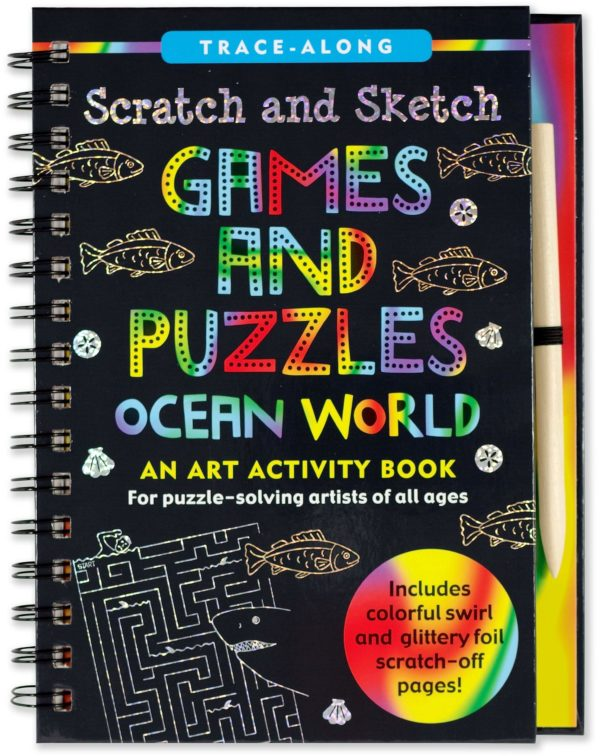Scratch & Sketch Games and Puzzles Ocean World