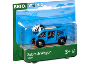 Brio 33967 Safari Zebra and Wagon