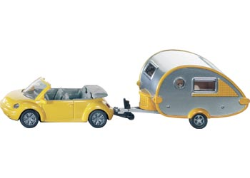 Siku 1629 Car with Caravan 1:55 Scale