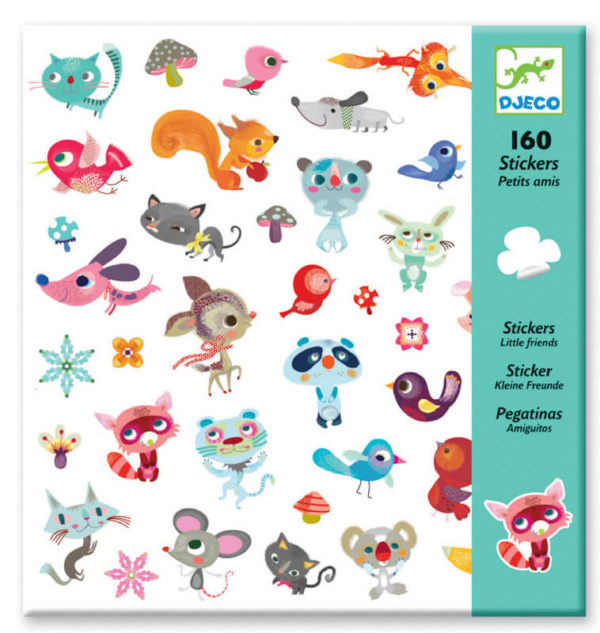 Djeco DJ8842 Small Friends Stickers