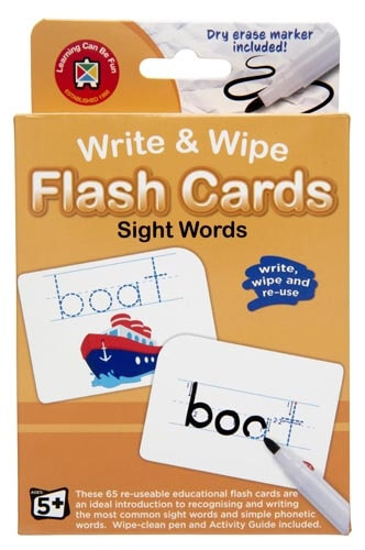 Sight Words: Write & Wipe Flash Cards