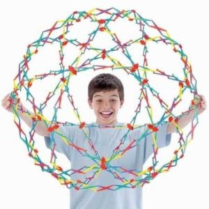 Original Hoberman Sphere Rainbow (Expands 24cm to 78cm diameter)