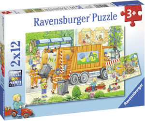 Ravensburger Street Cleaning Underway Puzzle 2x12pc