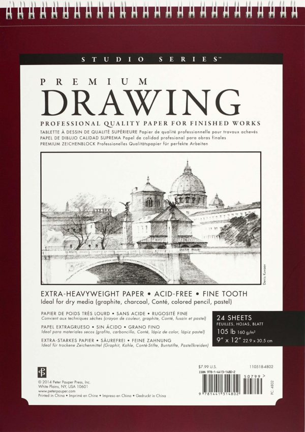 Premium Drawing Pad Large (22.9 x 30.5 cm)