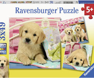Ravensburger Cute Puppy Dogs Puzzle 3x49pc