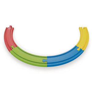 Hape Wooden Railway Rainbow Track Pack