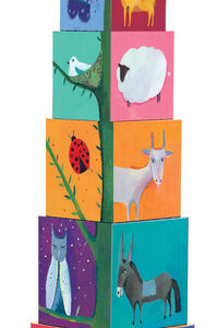 Djeco DJ8505 10 Animal Stacking Cubes