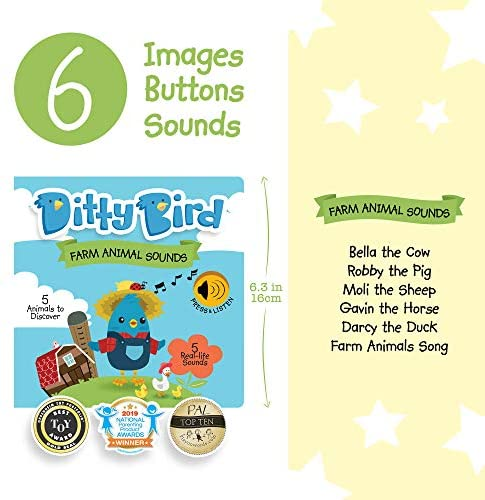 Ditty Bird Farm Animal Sound Book