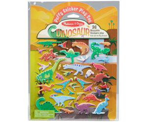 M&D Dinosaur Reusable Puffy Sticker Play Set 36pc