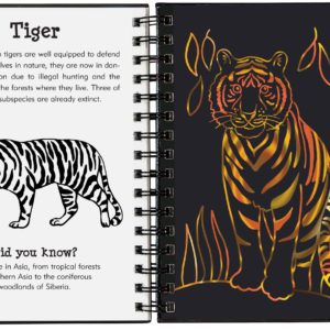 Scratch & Sketch Wild Safari (Trace-Along) Book