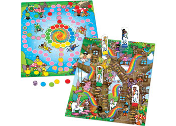 Orchard Toys Fairy Snakes & Ladders And Ludo