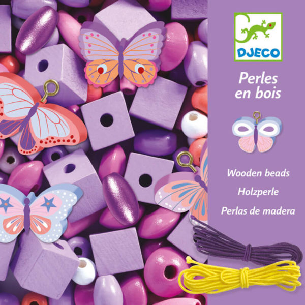 Djeco DJ9810 Wooden Butterfly Beads