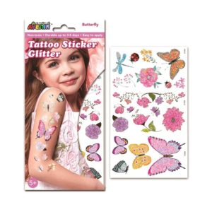Tattoo Sticker Glitter Butterfly