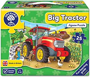 Orchard Toys Big Tractor Shaped Floor Puzzle 25pc