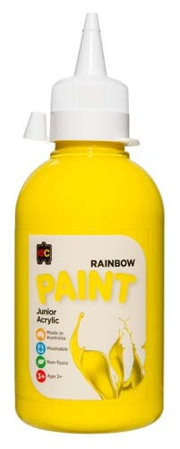 Brilliant Yellow Jnr Acrylic Paint 250mL