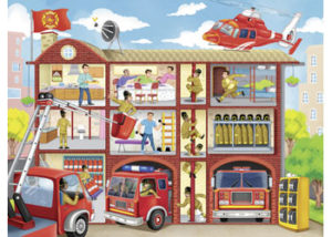 Ravensburger Firehouse Frenzy Puzzle 100pc