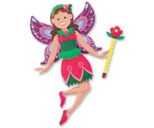 M&D Reusable Puffy Stickers Fairy