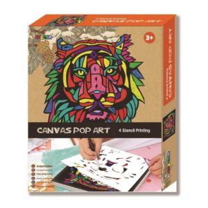 Canvas Lion Pop Art