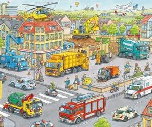 Ravensburger Vehicles in the City Puzzle 100 pc