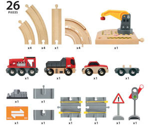 Brio 33208 Rail Road Crane Set