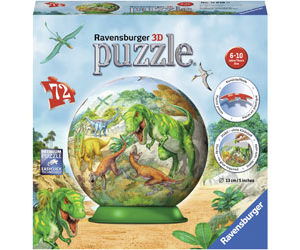 Ravensburger Kingdom Of Dinosaurs Puzzle Ball 72pc