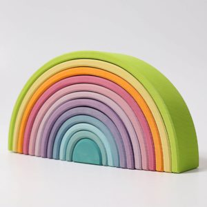 Grimms Rainbow Pastel Wooden Large