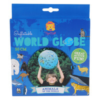 Inflatable World Globe Animals 30cm Tiger Tribe