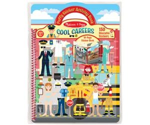 M&D Cool Careers Puffy Reusable Stickers