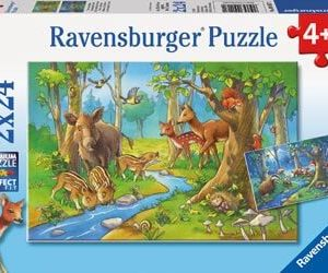 Ravensburger Cute Forest Animals Puzzle 2x24 pc