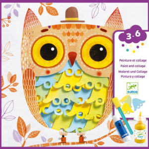 Djeco DJ9688 Owl Painting and Collages