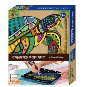 Pop Art Canvas Turtle