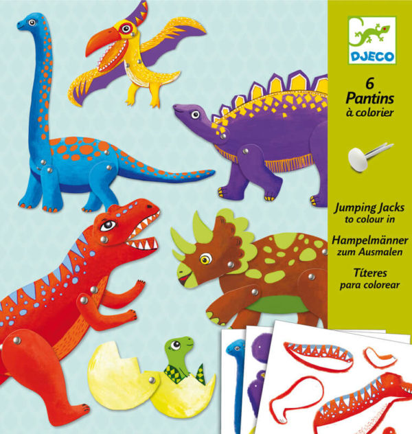 Djeco Dinosaur Jumping Jacks Colouring