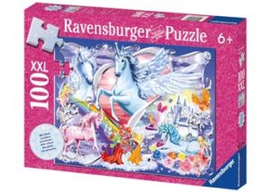 Ravensburger Amazing Unicorns Glitter Puzzle 100 Pc