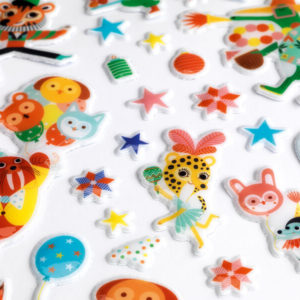Djeco DJ9080 The Party Puffy Stickers 126pcs