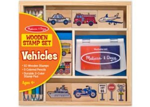 M&D Wooden Stamp Kit Vehicles