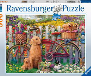 Ravensburger Cute Dogs in the Garden Puzzle 500pc