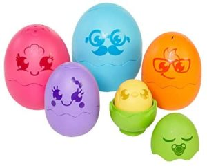 TOMY Hide & Squeak Nesting Eggs