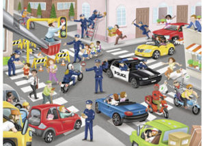 Ravensburger Police On Patrol Puzzle 100pc