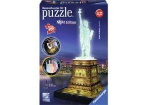 Ravensburger Statue of Liberty Night 3D Puzzle 108 pc