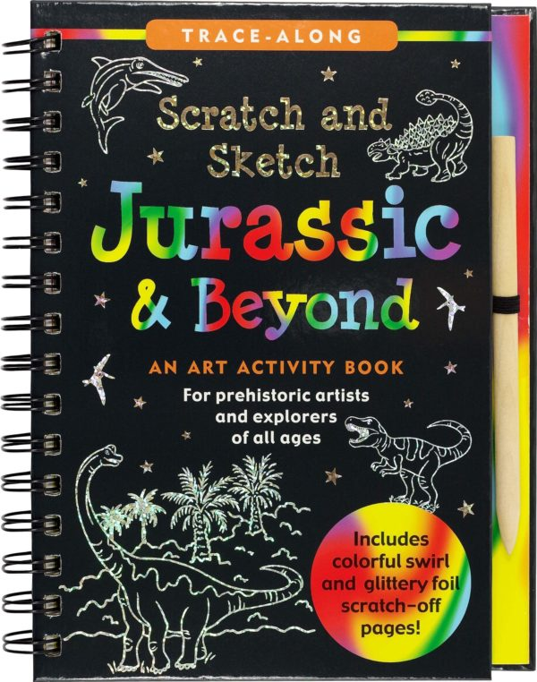 Scratch & Sketch Jurassic and Beyond (Trace-Along) Book