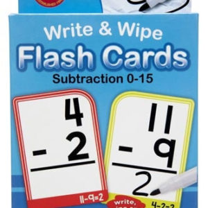 Subtraction: Write & Wipe Flash Cards