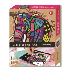 Canvas Elephant Pop Art