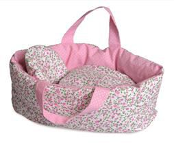Egmont Small Carry Cot with Flower Bedding