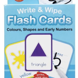 Colours, Shapes and Numbers: Write & Wipe Flash Cards